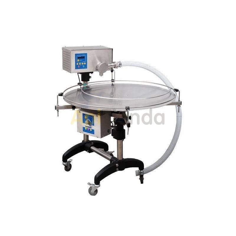 Envasadora eléctrica con mesa rotativa