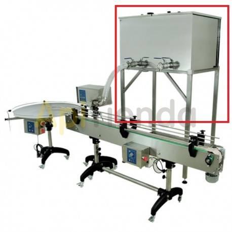 Envasadoras y bombas de trasiego Deposito 300L para  linea de envasado  Depósito de 300L con soporte, fondo calefactado con ter