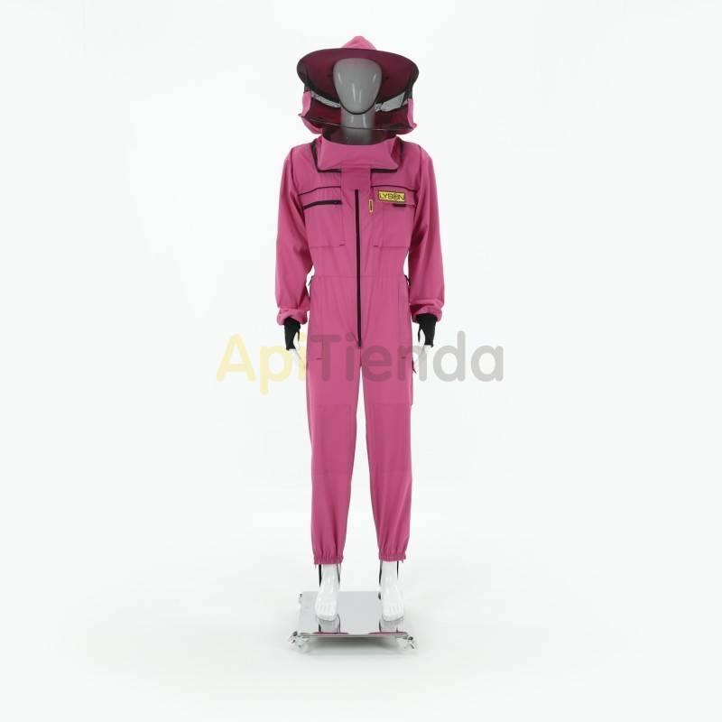 Vestuario Buzo apicultor careta redonda Rosa Premium Color Rosa Careta redonda desmontable, gorro con tela doble, alta segurid