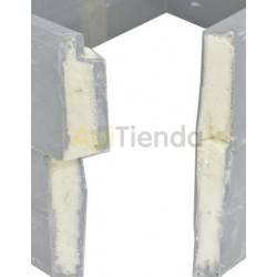 Colmenar Colmena Langstroth plástico - con cierres  Colmena 10 cuadros - Langstroth   Fabricada en plástico, con un relleno