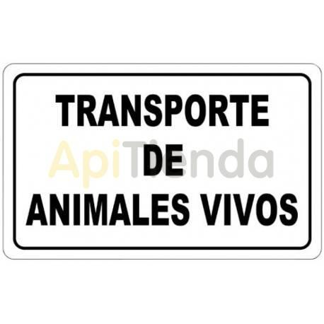 Cartel Transporte de Animales Vivos - Imantado