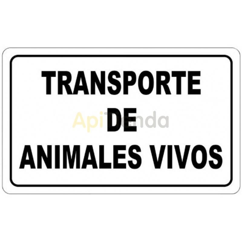 Otro material apícola Cartel Transporte de Animales Vivos - Imantado Cartel imantado Ideal para vehículos. Es muy cómodo para