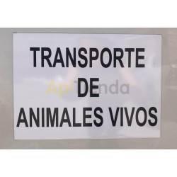 Inicio Cartel Transporte de Animales Vivos - Imantado Cartel imantado Ideal para vehículos. Es muy cómodo para el transporte d