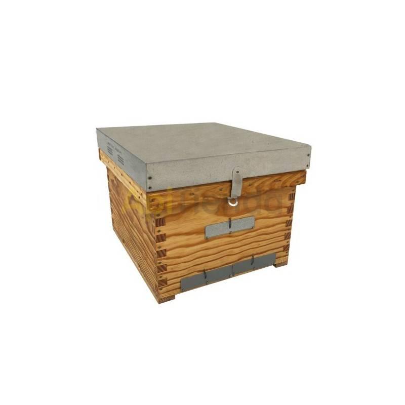 """Colmenas de madera Cámara de cría Dadant transhumante Dominguez Colmena simple, solo la cámara de cría, modelo Dadant o """"industr"""
