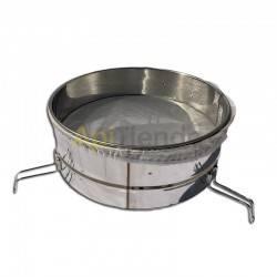Material  Filtro con soportes y filtro nylon  Ø 46 cm (maduradores 200-400 kg) Filtro para miel fabricado en acero inoxidable I