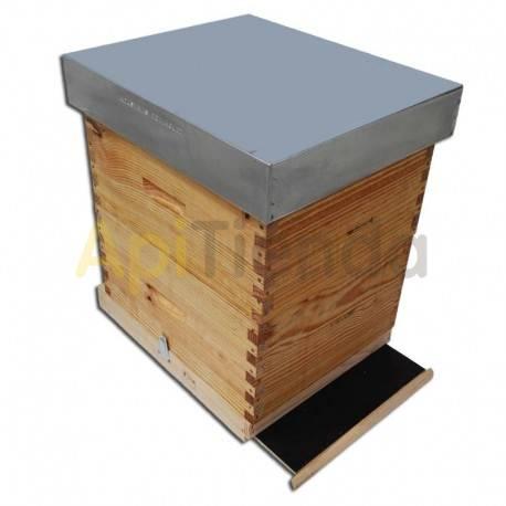 Colmenas de madera Colmena Fija Langstroth Dominguez fondo sanitario Colmena de madera fija, para cuadro Langstroth del fabrican