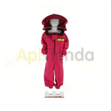 Vestuario Buzo apicultor niña Rosa Color rosa. Careta redonda desmontable. Alta seguridad. Tela fuerte, calidad excelente Dis