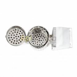 Ahumadores BeeTools|Ahumador inox con protección 32 cm Ahumador colmena Fabricado en acero inoxidable de alta resistencia y con