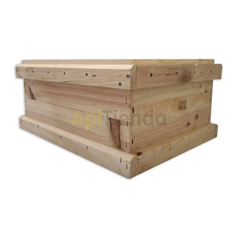 Colmenas de madera Media alza Layens 12 cuadros Dominguez Medias alzas para colmenas Layens de 12 cuadros con rebaje. Dimension