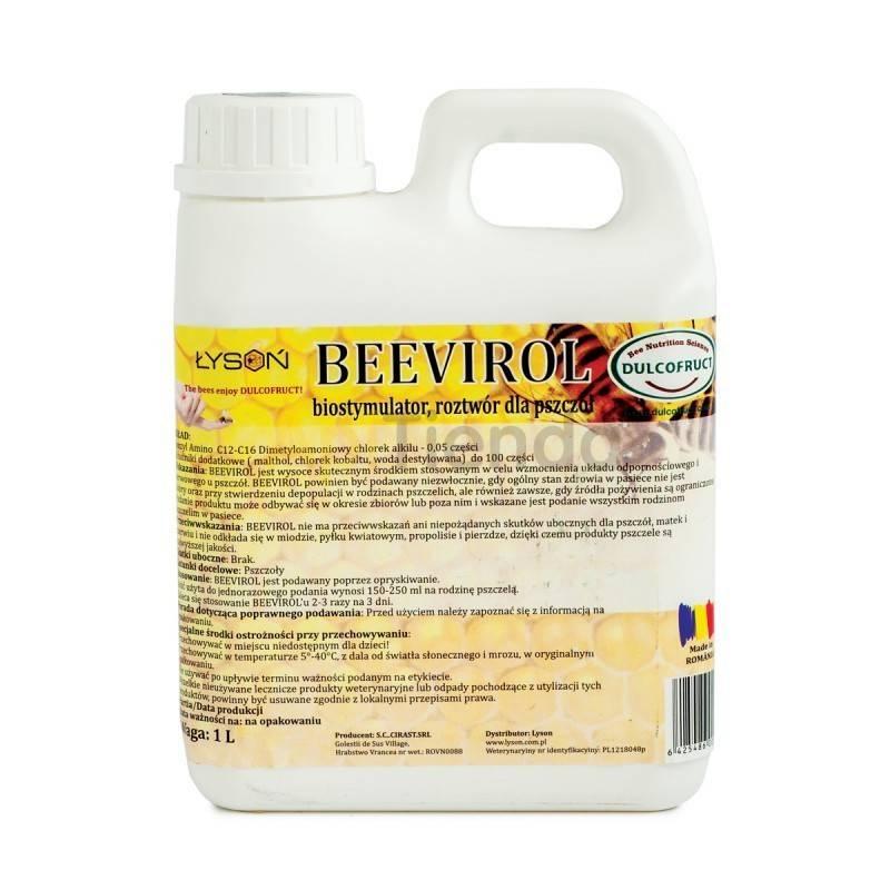 Alimentacion BeeVirol 1L El producto BeeVirol influye en el incremento de la higiene de la familia de abejas, aumenta la vitalid