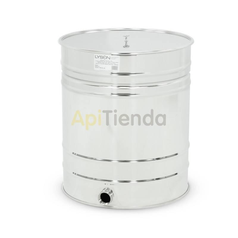 Maquinaria Madurador rosca para valvula 200L (aprox. 270kg) Madurador de miel en acero inoxidable con tapadera de acero inoxidab