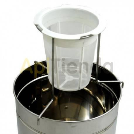 Filtros para miel Soporte para filtro nylon Soporte para filtro de nylon de diámetro 19 cm Fabricado en acero inoxidable Ideal