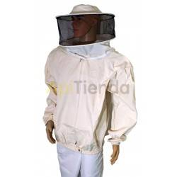 Vestuario Bluson careta redonda algodon fuerte Blusón de apicultor con careta redonda para una correcta protección. Material de