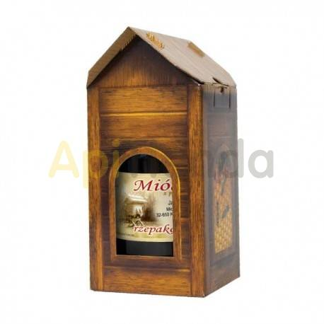 """Envases Caja decorativa + un bote de 700ml, 1 ud ¡Un envase atractivo aumentará las ventas de miel! Una caja sin la palabra """"mi"""