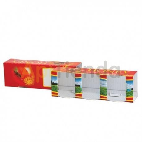 Cajas de cartón Caja decorativa para 3 botes de 50g (35ml), pack 10 uds Caja de cartón preparada para 3 frascos de 50g (35ml) P