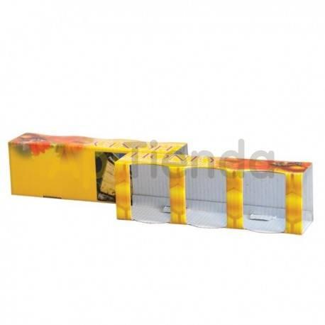 Envases Caja decorativa para 3 botes de 50g (35ml), pack 10 uds Caja de cartón preparada para 3 frascos de 50g (35ml) PACK 10 U