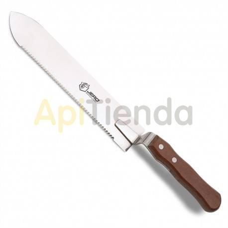 Material  Cuchillo inox sierra 280 mm Cuchillo JERO fabricado en acero inoxidable con mango de madera con longitud de 28 cm. Gr