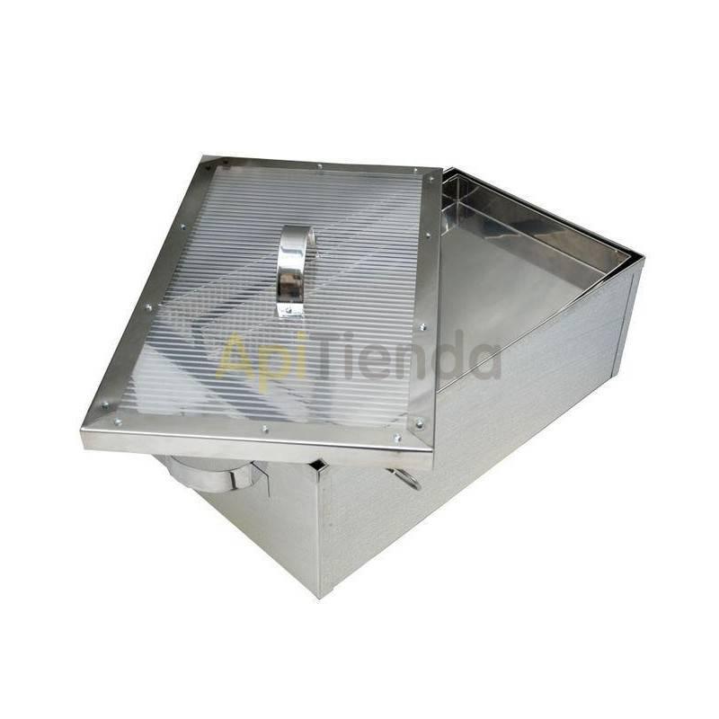 Fundidoras de cera Cerificador solar acero inox. - pequeño Esta es una opción económica y fácil de ensamblar, configurar y usar.