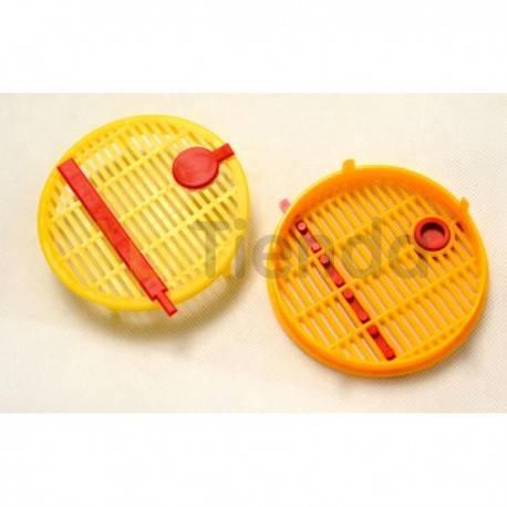 Reinas Jaula redonda plástico LS Jaula redonda de plástico. Ideal para proteger las celdillas reales y/o enjaular la reina temp