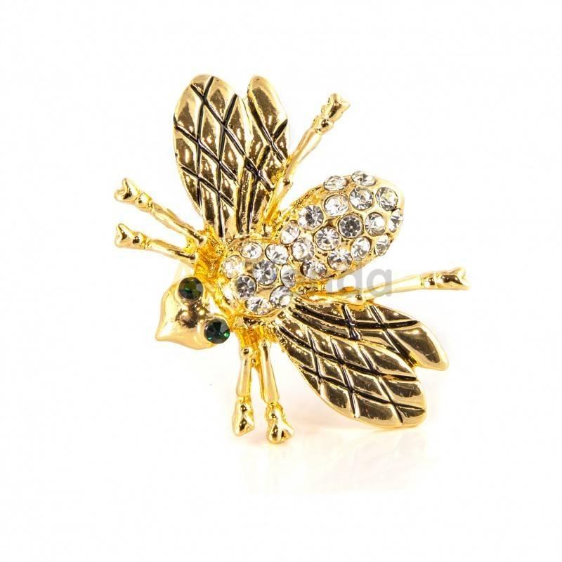 Belleza Broche - hundido en oro Broche que destaca por su elegancia y delicada forma de abeja con unos preciosos tonos dorados y