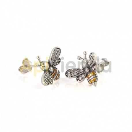 Belleza Pendientes - Nectar Hunters Pendientes de abeja, con un sencillo diseño pero sin perder ningún detalle, con unos magnífi