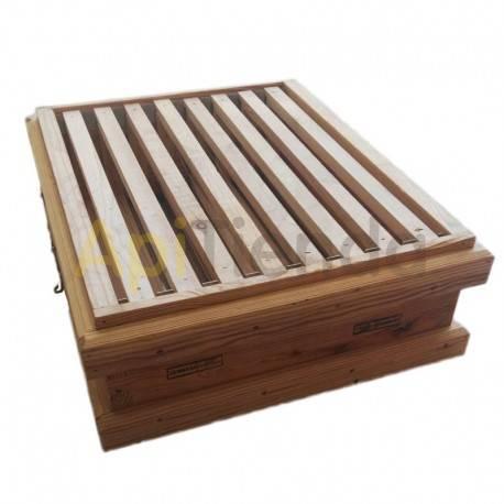 Colmenas de madera Media alza Transhumante 8-9 cuadros Media alza transhumante Fabricada en madera de pino. Los cuatro lados v