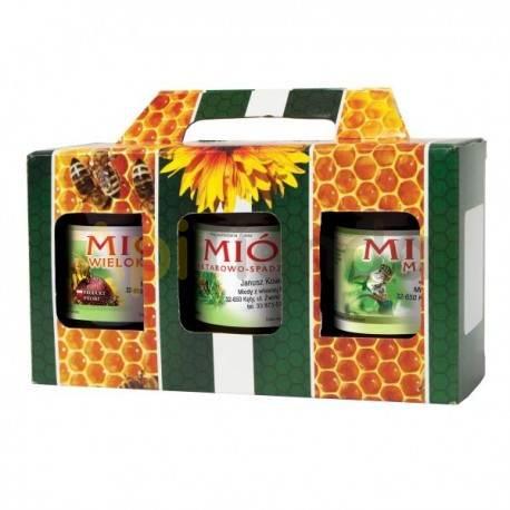 Cajas de cartón Caja decorativa para 3 botes 500g (315 ml) - Pack 10 unidades Caja decorativa para 3 botes de 500g  Especifica