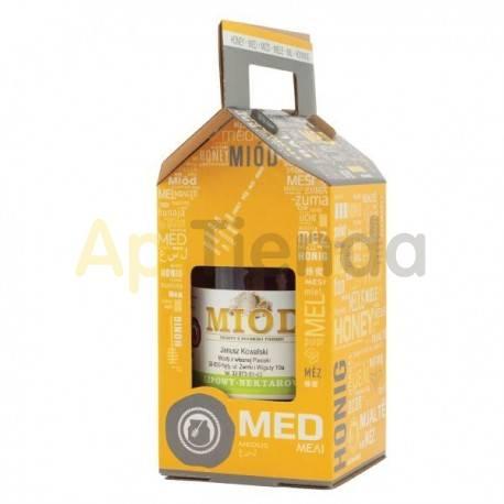 Cajas de cartón Caja decorativa carton con asa para 1 bote 900 ml - pack 10 uds Caja de cartón con asa, para bote de 1 kg. pack