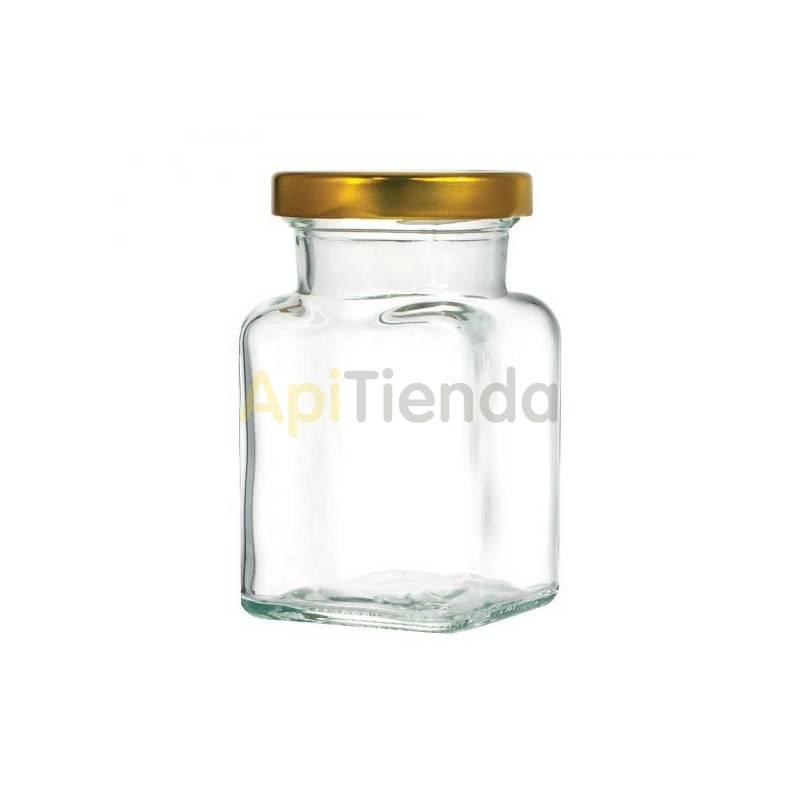 Envases Bote de cristal cuadrado 150 ml, con tapa - pack 15 unidades Bote de cristal de 150 ml con tapa incluida Capacidad - 15
