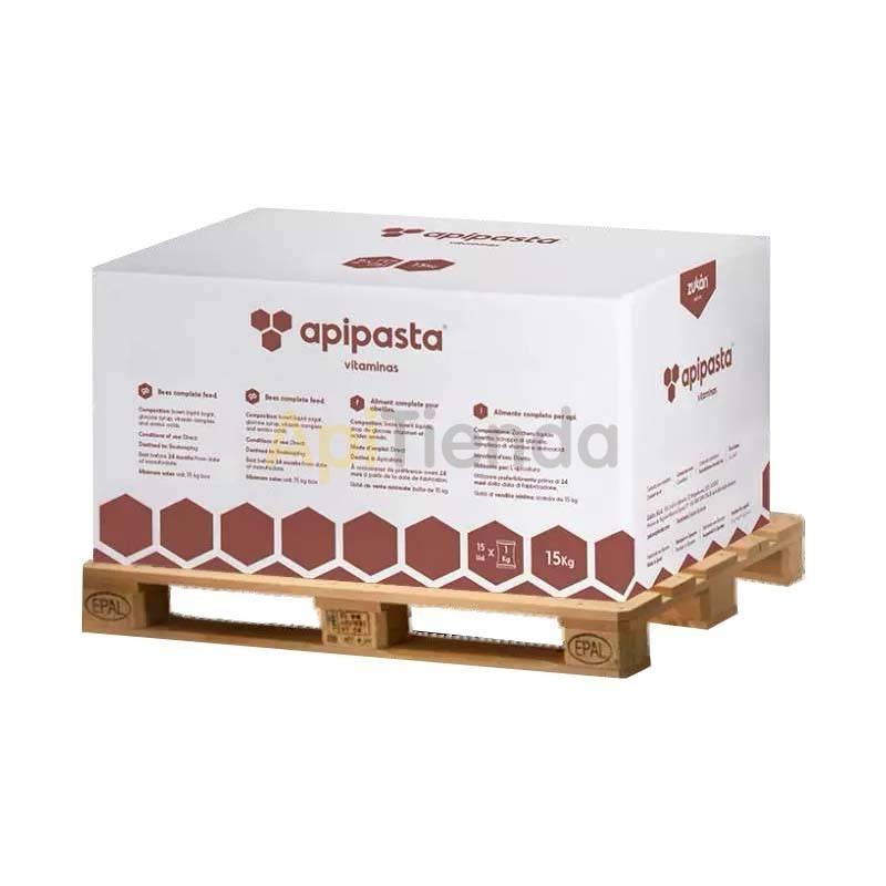 Alimentacion Alimento Apipasta con vitaminas Palet (1050 kg) Alimentación en pasta compuesto principalmente de sacarosa, lo que