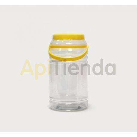 Botes Garrafa plástico TO85 (3KG) Garrafa de plástico de 3 kg. Capacidad: 2200 C.C. Altura: 225mm. Diámetro: 117 mm Con asa