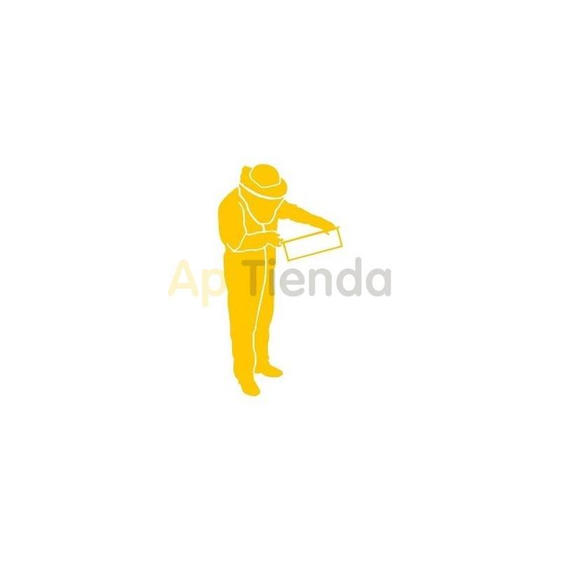 Inicio Pegatina amarilla, apicultor mod. 2 ¡PERSONALIZA TU COCHE! - Pegatina laminada en color amarillo con forma de apicultor,