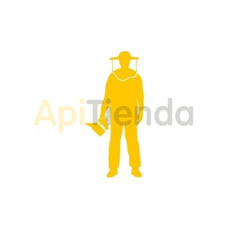Material  Pegatina amarilla, apicultor mod.3 ¡PERSONALIZA TU COCHE!  - Pegatina laminada en color amarillo con forma de apicul