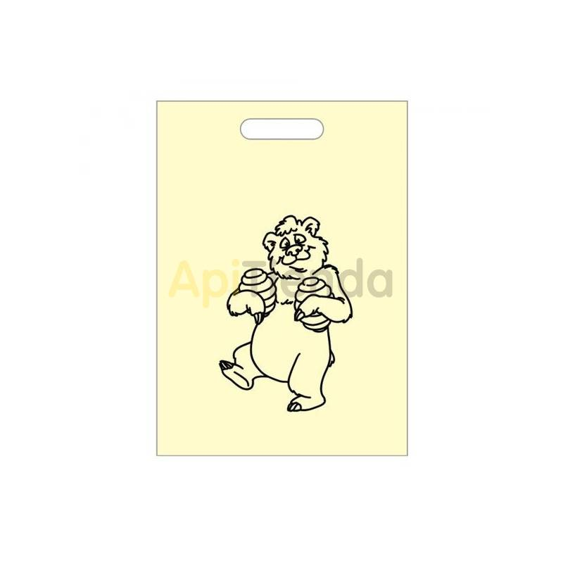 Envases Bolsa biodegradable con imagen de oso 300x400 50 uds Bolsa biodegradable o ecológica. Únete a un mundo más sostenible c