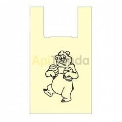 Envases Bolsa biodegradable con imagen de oso 300x500 50 uds Bolsa biodegradable o ecológica. Únete a un mundo más sostenible c