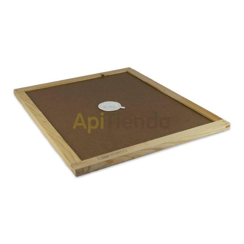 Colmenas de madera Entretapa Langstroth/Dadant Entretapa fabricada en tablex con marco de madera Cuenta con un taladro central