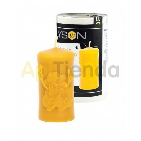 Moldes Molde vela con orquidea  Molde de silicona para elaborar las velas de cera de abeja Peso silicona: 0,28 kgPeso cera: 0,