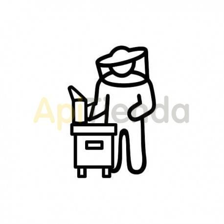 Material  Pegatina negra apicultor ¡PERSONALIZA TU COCHE! - Pegatina laminada en color negro con forma de apicultor, cómoda de