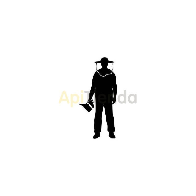 Material  Pegatina negra, apicultor mod. 3 ¡PERSONALIZA TU COCHE! - Pegatina laminada en color negro con forma de apicultor con