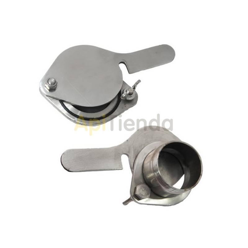 "Material  Grifo guillotina acero inoxidable rosca extertna Ø40mm|5/4"" Válvula 5/4"", de acero inoxidable y con rosca externa. Es"