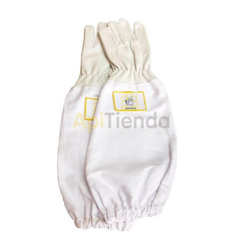 Vestuario Guantes de piel de vacuno Guantes de cuero de alta calidad, con manguitos de algodón. Muy resistentes. Gran comodidad