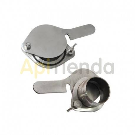 "Material  Grifo guillotina acero inoxidable rosca externa Ø45mm|6/4"" Válvula 6/4"", de acero inoxidable y con rosca externa. Est"