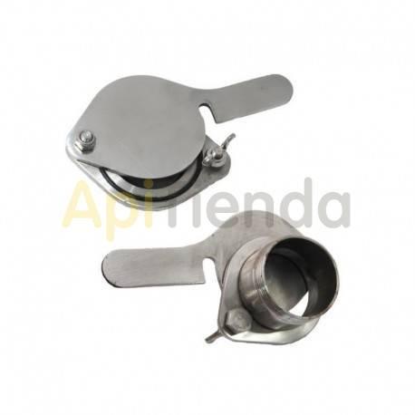 "Material  Grifo guillotina acero inoxidable rosca externa Ø50mm|2"" Válvula 2"", de acero inoxidable y con rosca externa. Estilo"