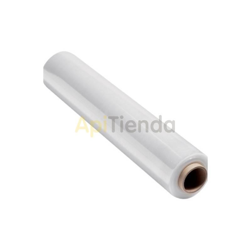 Material  Film estirable para uso manual - transparente Agrupa y protege tus productos de la suciedad, el polvo o la humedad man