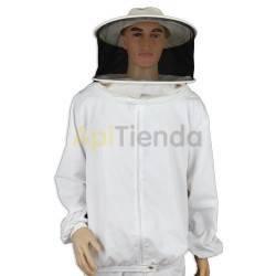 Vestuario Bluson apicultor nylon careta redonra Camisa (blusón) de apicultor con cremallera y careta redonda desmontable para fa