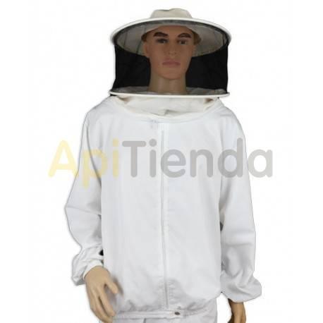 Vestuario Bluson apicultor nylon careta redonda Camisa (blusón) de apicultor con cremallera y careta redonda desmontable para fa