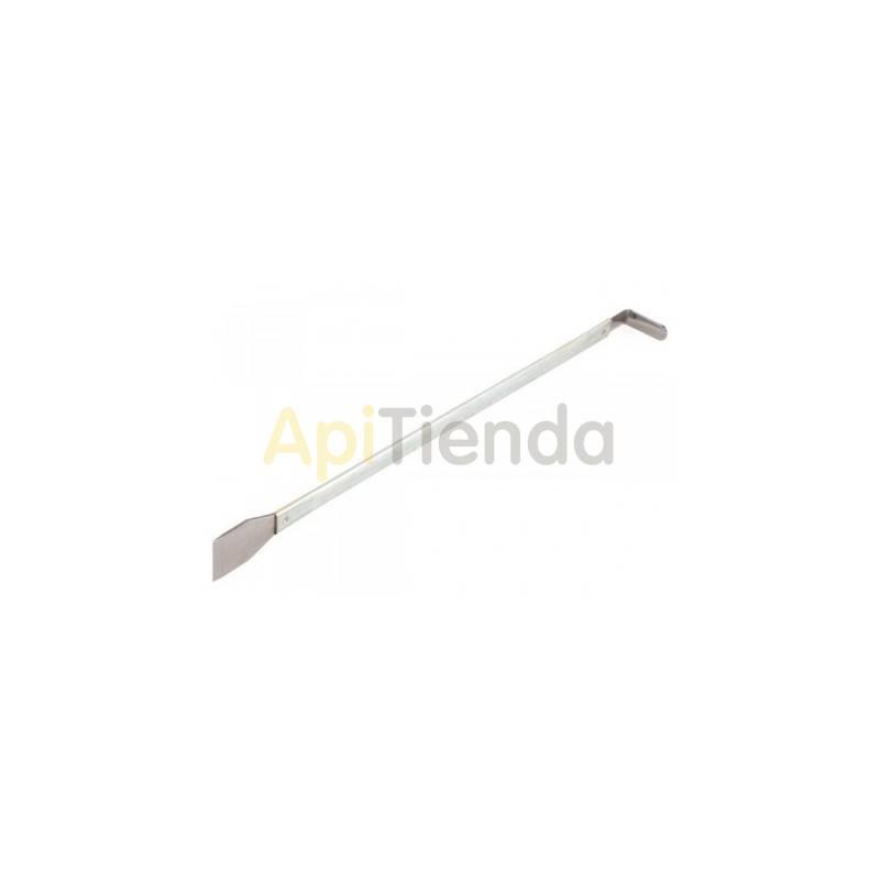 Inicio Espátula castredeira Jero Espátula de acero inoxidable de 48 cm. Debido a su diseño alargado, es perfecta para desprende