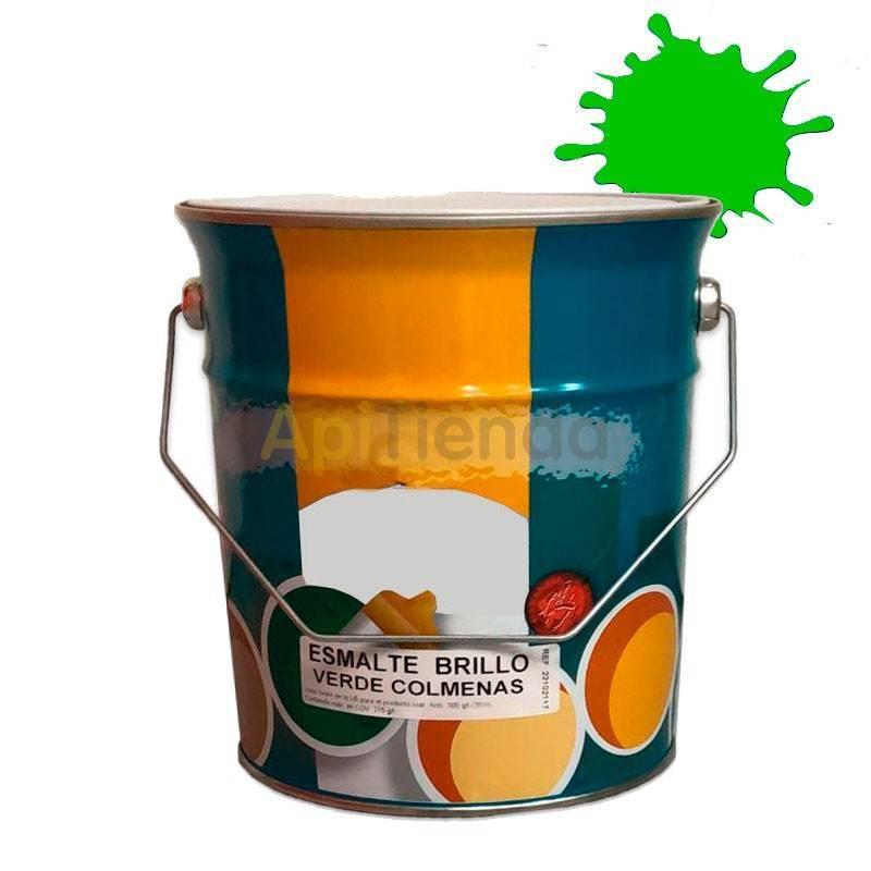 Colmenar Pintura esmalte para colmenas - Verde 4L Esmalte sintético de alta calidad a partir de resinas alquídicas sería especia
