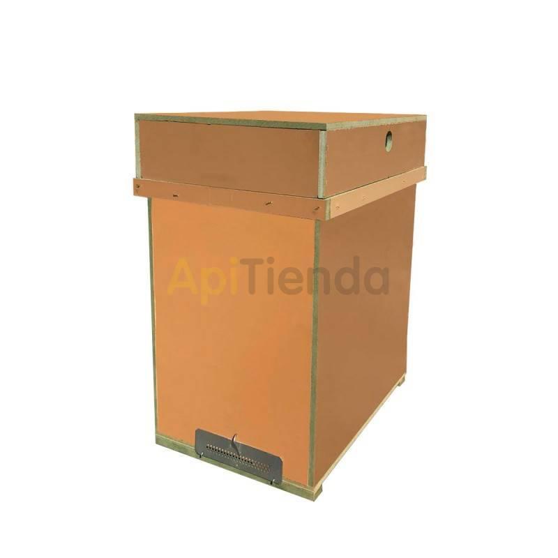 Colmenar Núcleo HDF Layens, sin cierres   Núcleo con capacidad de 6 cuadros LAYENS. Sin cierres Fabricado en HDF, resiste bie