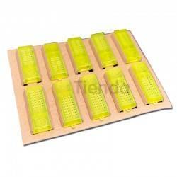 Reinas Caja carton transporte reinas Caja de cartón diseñada para el transporte de reinas en jaulas de introducción. Diseño erg